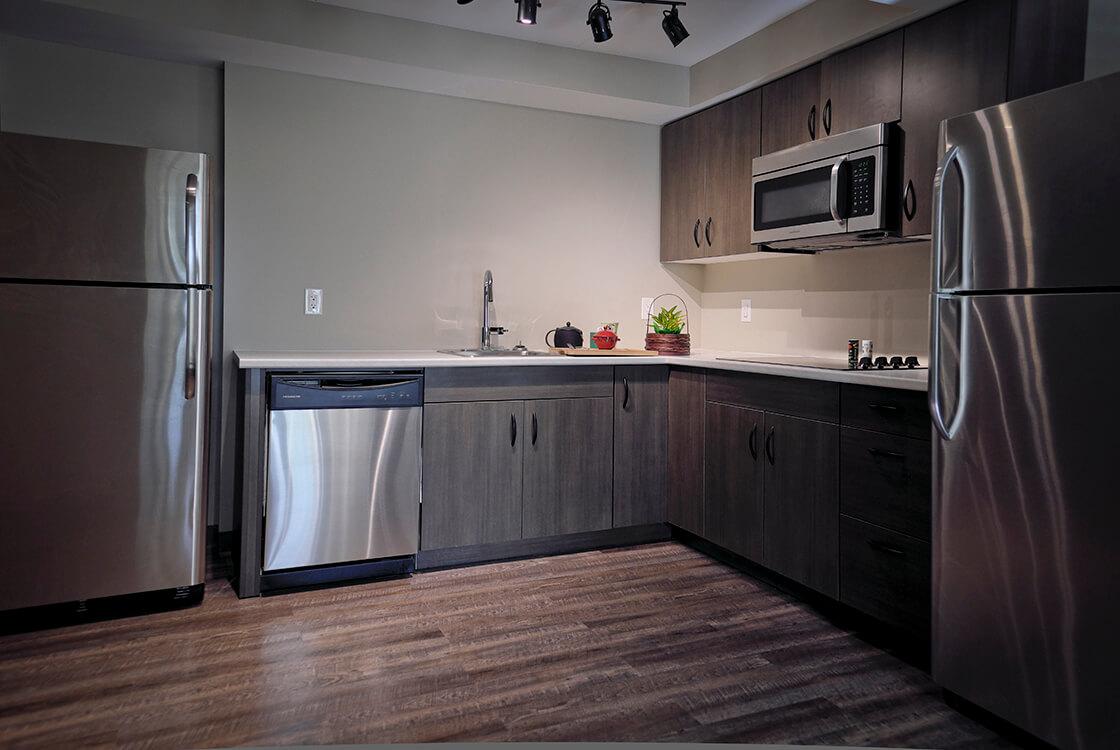 Large common kitchen